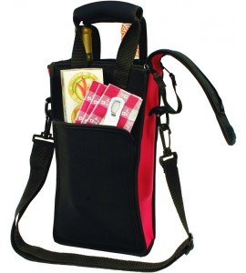 Picnic Neoprene Two-Bottle Tote Bag, With Traveler's™ Corkscrew