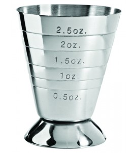Multi-Level Jigger Cup, Stainless Steel