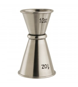 Japanese-style Stainless Steel Double jigger, 1/2 oz. - 1 oz.