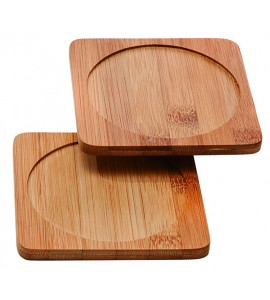Bamboo Wine Bottle or Glass Coaster, 4-1/2""