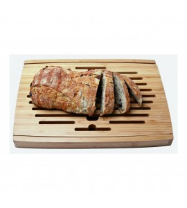 Big Loaf Bread Cutting Board with Bottom Crumb Tray