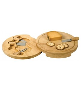 "Swivel Cheese Board Set, Small (5 pcs)- 8-5/8"" dia."