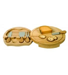 Swivel Cheese Board Set, Large (5 pcs)- 11-7/8 inch dia.