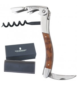 Laguiole Tradition® Two-Lever Waiter's Corkscrew, Amourette Wood