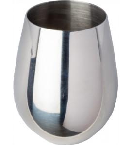 Sera Stemless Wine Glass, Stainless Steel, 18 oz. Rimfull