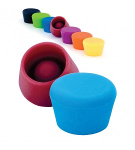Silicone Wine Stoppers (2 pcs.) Each Set Of 2 In Compatible Colors. Website Exclusive