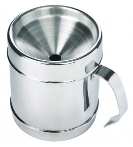 Wine Tasting Personal Spittoon - Continental Style, Polished Stainless Steel