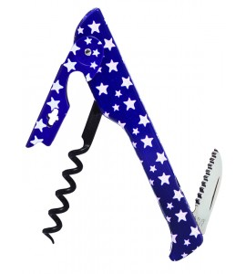 2026 Hugger™ Waiter's Corkscrew Designer Collection Blue w/White Stars