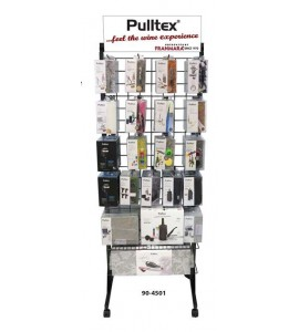 Pulltex® Steel Tower Gridwall Rack with Casters