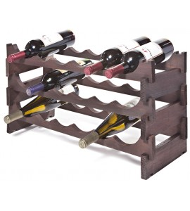 VinRack™ 3 x 6=18 Bottle Rack, Stained