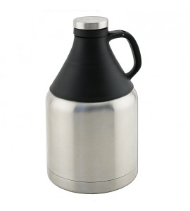 Beer Growler, 32 Ounce Triple-Wall, Stainless Steel, with Tritan® Top
