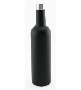 750 ml Wine Bottle, Bordeaux shape, Tri-Wall Black Textured S/S