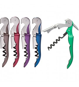 Duo-Lever™ Corkscrew, Metallic Finish Handle