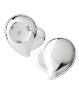 Heart-Shaped Foil Cutter, Silver Plated