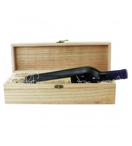 WineChest™ Single Bottle Box hinged Wine Chest