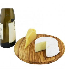 "Olivewood Round Cheese Board 9"" dia."