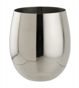 Sera™ 12 OZ rimfull STEMLESS,  STAINLESS STEEL, polished