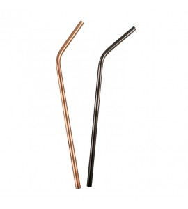 Stainless Steel Curved Straws