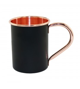 Black Coated Moscow Mule Mug, 14 oz.