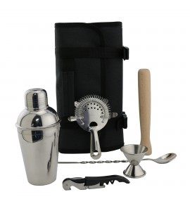 Cocktail Tool Roll-Up Travel Pack, Deluxe Kit