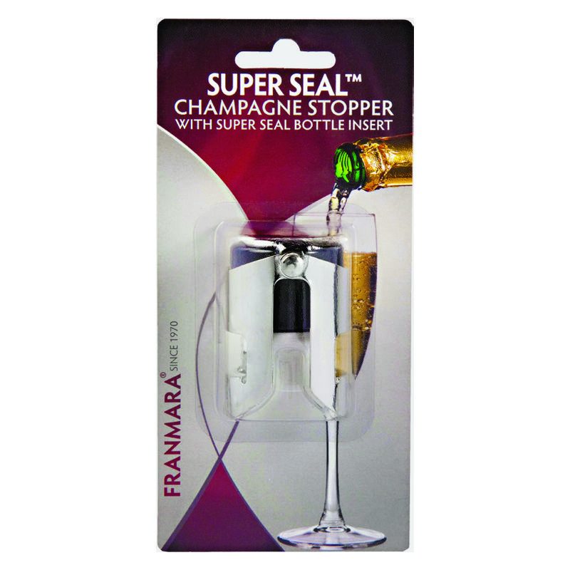 Super-Seal™ Champagne Stopper, Nickel Plated Made In Italy