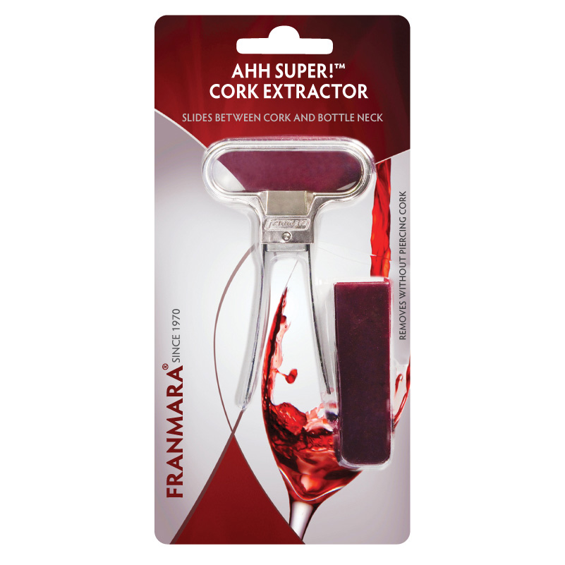 Ahh Super!™ Two-Prong Cork Extractor, Chrome Plated