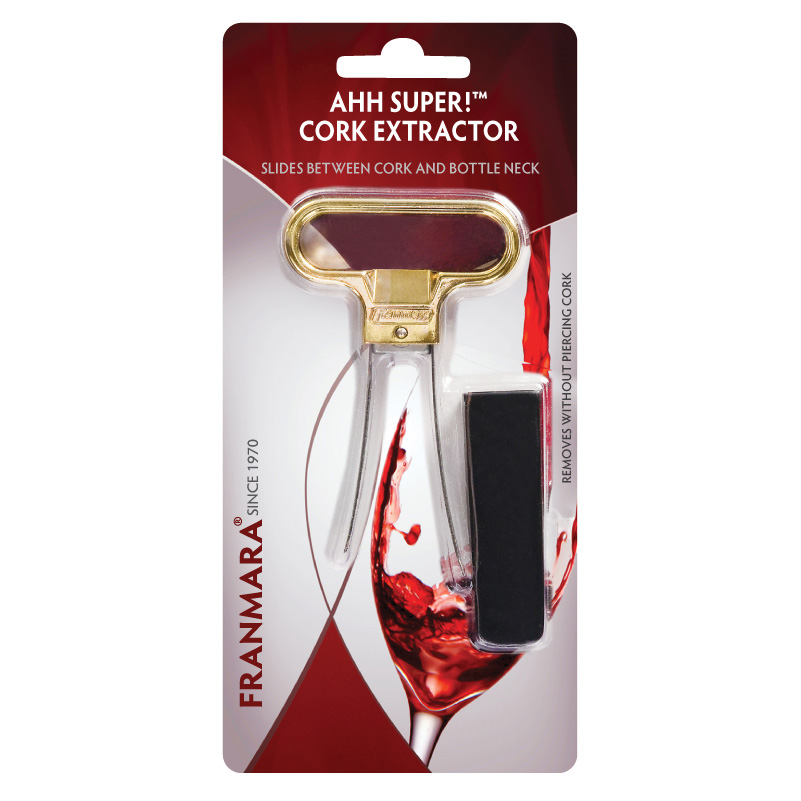 Ahh Super!™ Two-Prong Cork Extractor, Brass Plated