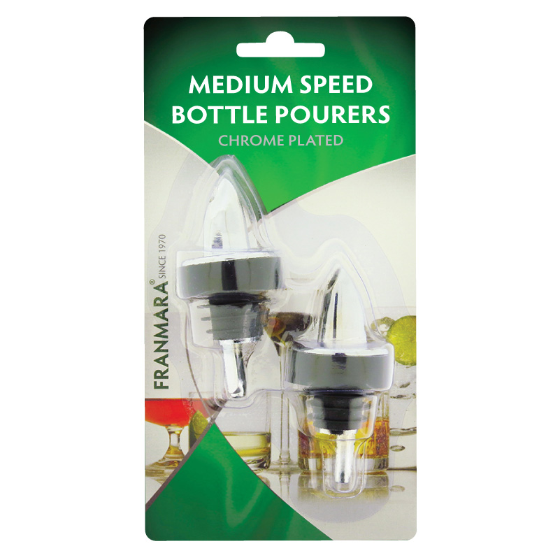 Medium Speed Bottle Pourer, Two on a Card