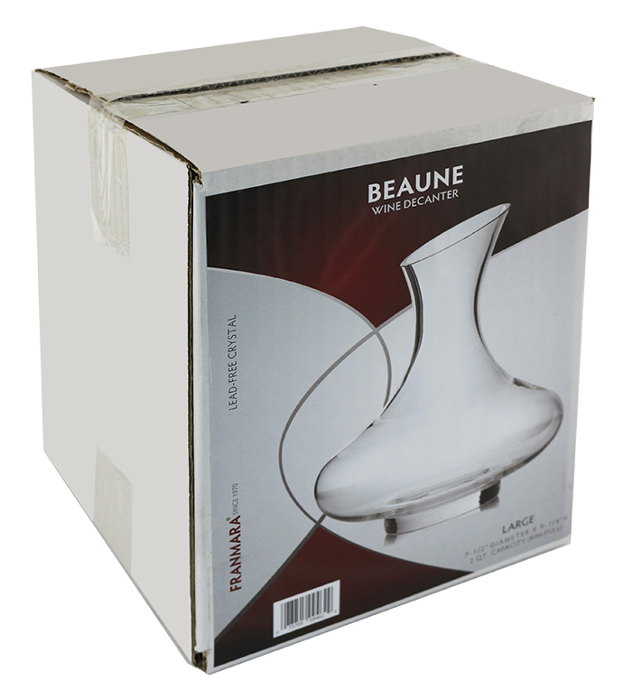 Beaune Large Decanter, 64 ounces Rim-full